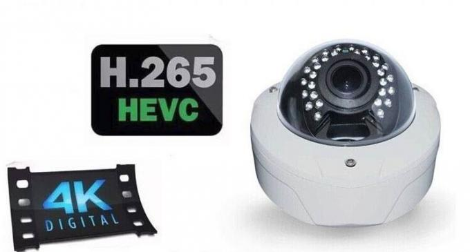 High Definition H 265 IP Camera 4.0mp IR Vandal Dome Onvif Cctv Camera