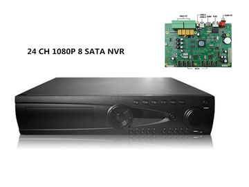 China 24CH realtime HD HDMI NVR Security System H 264 NVR Network IP With 8 SATA and eSATA Synology supplier