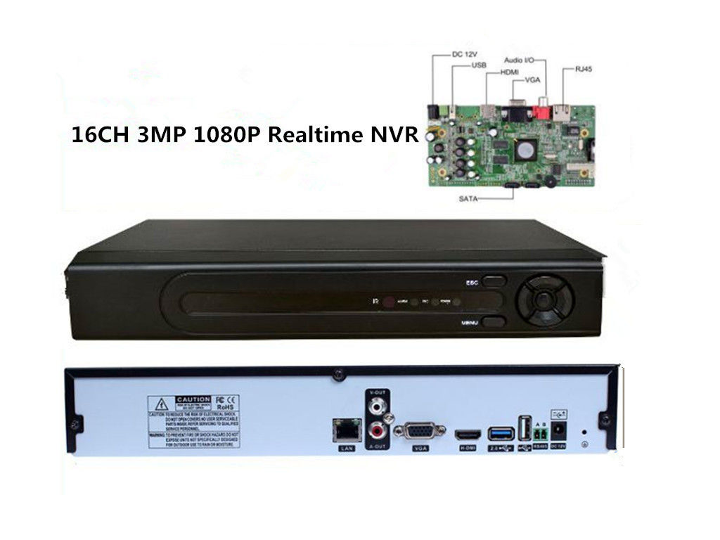 Realtime Recording 16 Channel Nvr Security System H 264 High Profile